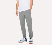 Grey Zebra Logo Cotton Sweatpants