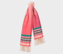Pink Ombré Lambswool And Cashmere Scarf