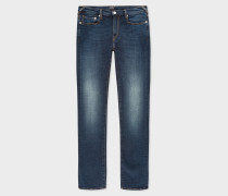 Slim-Fit 'Blue/Black Reflex' Dark Wash Jeans