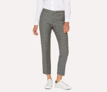 Blue 'Heart' Jacquard Trousers