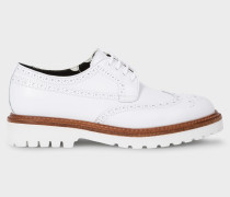 White Leather 'Vegas' Brogues