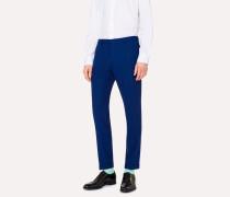 Slim-Fit Blue Wool Trousers