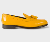 Yellow Leather 'Simmons' Tasseled Loafers