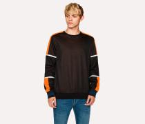 Black Colour-Block Cotton-Blend Sweatshirt