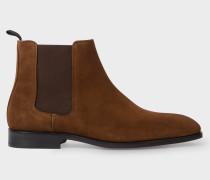 Dark Brown Suede 'Gerald' Boots