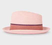 Pink Woven Trilby Hat