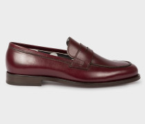 Bordeaux Leather 'Wolf' Loafers