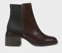 Dark Brown Leather 'Warren' Boots