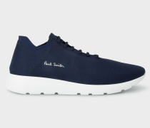Navy 'Gear' Knitted Trainers