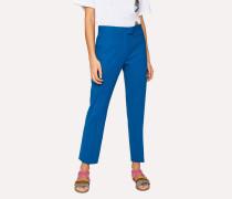 Slim-Fit Blue Wool-Hopsack Trousers