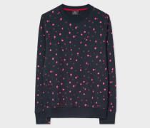 Navy 'Ink Spot' Print Organic-Cotton Sweatshirt