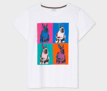White Multi-Coloured 'Rabbit' Print T-Shirt