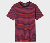 Red And Navy Stripe Organic-Cotton T-Shirt