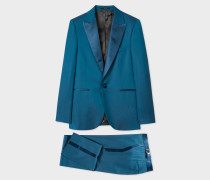 The Soho - Tailored-Fit Teal Wool Evening Suit