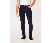 Slim-Standard Dark Navy Five-Pocket Moleskin Trousers