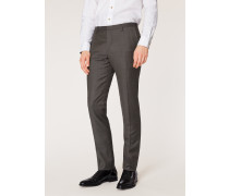 Slim-Fit Charcoal Grey Wool Trousers