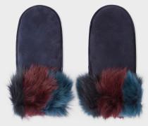 Sheepskin Three-Colour Mittens
