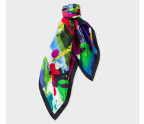 'Painted Garden' Print Silk Square Scarf