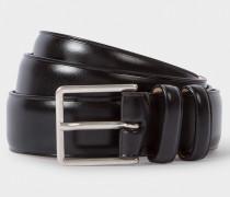 Black Leather Double Keeper Classic Suit Belt