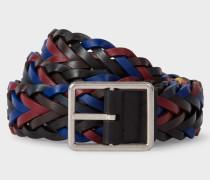 Reversible Plaited Leather Belt