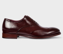 Aubergine Calf Leather 'Lomax' Oxford Shoes