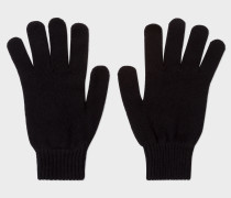 Black Cashmere And Merino Wool Gloves