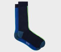 Navy And Indigo Vertical Stripe Socks