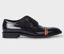 Dark Navy Leather 'Chester' Flexible Travel Shoes With Grosgrain 'Artist Stripe' Detail