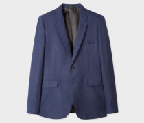 Slim-Fit Navy Textured Two-Button Wool Hopsack Blazer