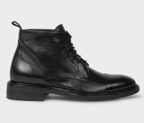 Black 'Jarman' Leather Boots