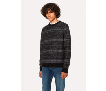 Black Fair Isle Wool-Blend Sweater