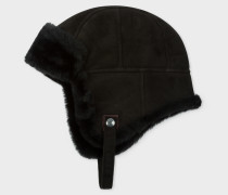 Black Sheepskin Chapka Hat