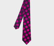 Damson Polka Dot Silk Tie