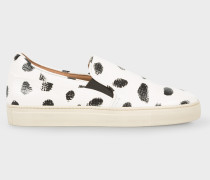 White Spotted Leather 'Zorn' Trainers