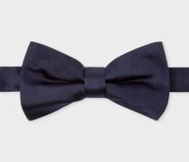 Navy Silk-Twill Bow Tie