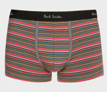 Olive Green Thin Stripe Low-Rise Boxer Briefs