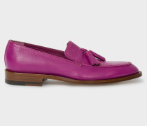 Fuchsia Leather 'Alexis' Loafers