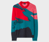 Multi-Coloured Camouflage Mohair-Blend Sweater