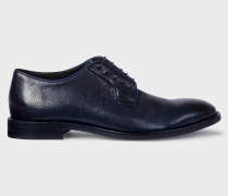 Dark Navy Leather 'Chester' Flexible Travel Shoes