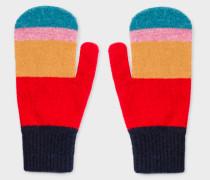 Vintage Stripe Wool Mittens