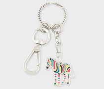 Multi-Coloured 'Zebra' Keyring