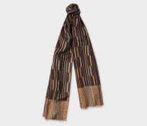 Signature Stripe Block Pattern Scarf
