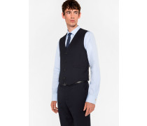 A Suit To Travel In - Tailored-Fit Navy Wool Waistcoat