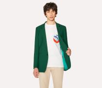 Slim-Fit Green Wool Blazer