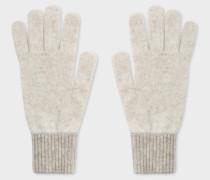 Ecru Wool Knitted Gloves