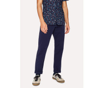 Tapered-Fit Washed Navy Garment-Dyed Stretch-Cotton Chinos