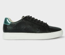 Black Leather Star-Emboss 'Lapin' Trainers