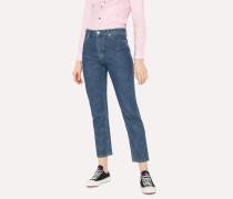 Washed Denim Boyfriend-Fit Jeans