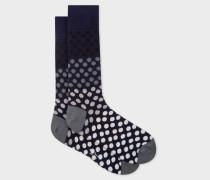 Navy Gradient Polka Dot Socks