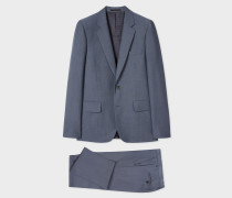 The Soho - Tailored-Fit Steel Blue 'A Suit To Travel In'